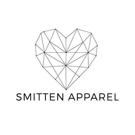 heart tattoo logo geometric heart premade logo clothing brand fashion by