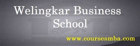 Welingkar Mba Eligibility by Part Time Mba Program Top B Schools