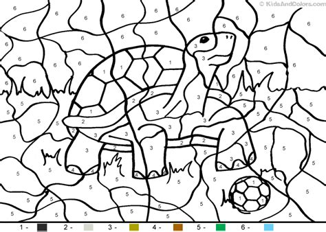 color by number animal coloring pages animal color by number color by number soccertortoise