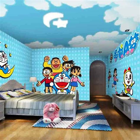 gambar wallpaper dinding untuk kamar anak 10 gambar wallpaper dinding kamar tidur anak motif doraemon