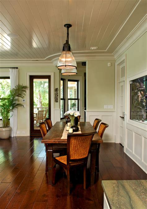 rattan chairs heighten tropical feeling  dining room