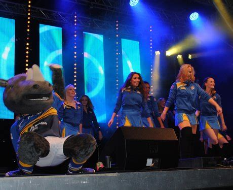 leeds lights switch on the leeds rhino dancers with mascot ronnie busting some