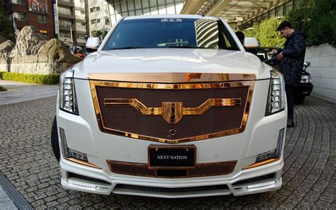 cadillac escalade custom fully customized white cadillac escalade on bronze custom
