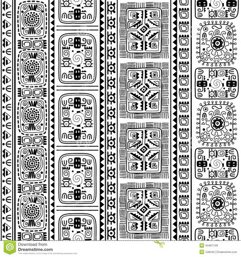 all pattern in c b w tribal ethnic seamless pattern stock vector image