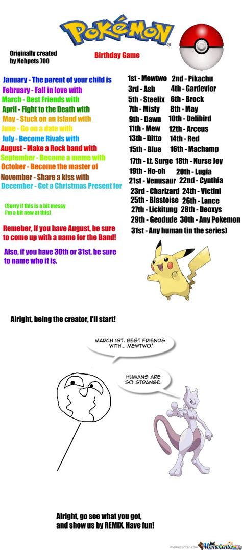 Pokemon Birthday Meme - pokemon birthday scenario game pokemon birthday game