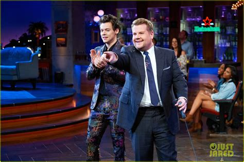 harry styles tattoo james corden show harry styles had the best reaction to kardashian mention