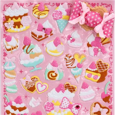 Wallpaper Motif Lolipop 4 jolis autocollants 3d bonbon g 226 teau glace sucreries