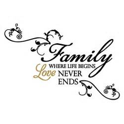 Begins Love Never Ends Vinyl Wall Decal Set   www.BedBathandBeyond.com