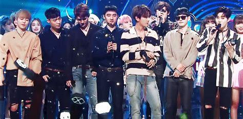 black pink dan exo 160828 inkigayo no 1 nominees exo vs blackpink vs