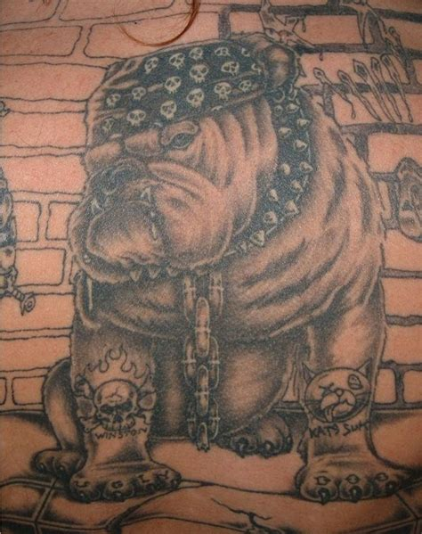 bad ass small tattoos bad bulldog 2 picture