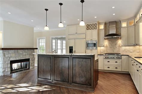 """31 """"New"""" Custom White Kitchens with Wood Islands"""
