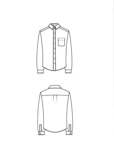 T Shirt Flat Sketches by Technical Drawing Shirt Style Drawings
