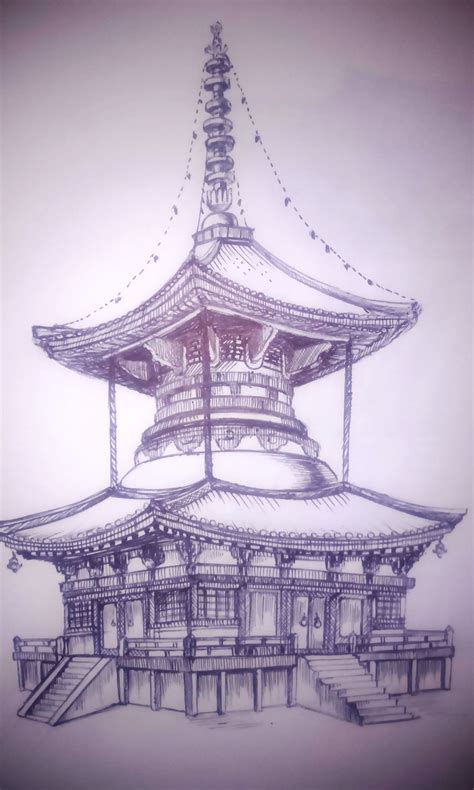 japanese temple tattoo designs japanese temple drawing at getdrawings free for