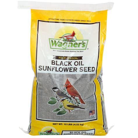 wagner s four season 10 lb black oil sunflower seed 25024