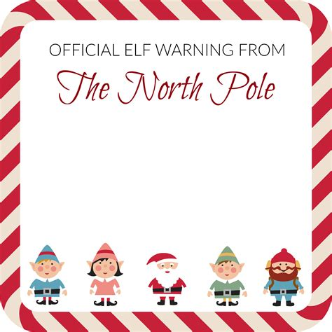 printable elf on the shelf warning letter elf on the shelf elf warning note template notes to self