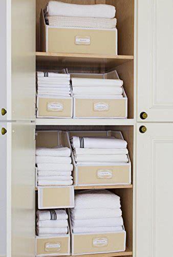 Linen Closet Storage Bins by G U S Ivory Linen Closet Storage Organize Bins For