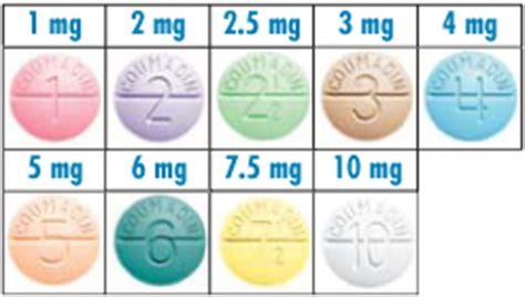 coumadin 174 prescription medication color chart