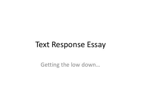 text response essay sle how to write a text response