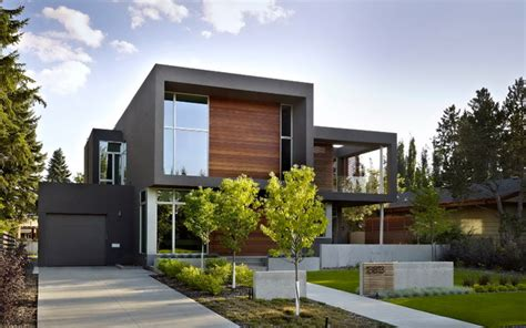 contemporary home exterior sd house modern exterior edmonton by thirdstone inc