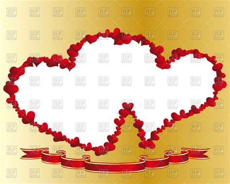 valentines picture frame frame of hearts vector image 83694 rfclipart