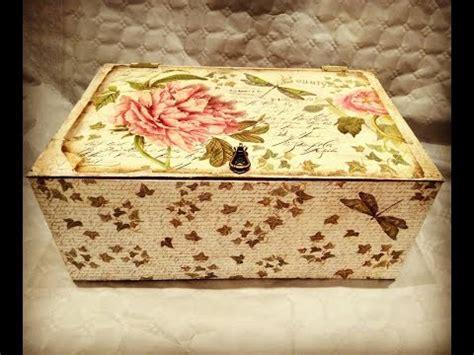 tutorial caja fruta decoupage c 243 mo reciclar y decorar caja de frutas vintage decoupage