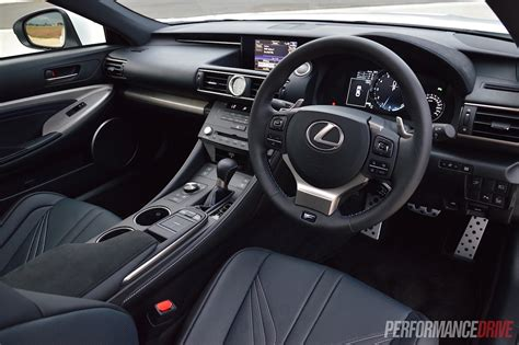 lexus rc interior 2015 lexus rc f review video performancedrive