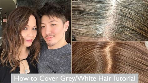 cover up ombre hair how to cover grey white hair tutorial with my mom