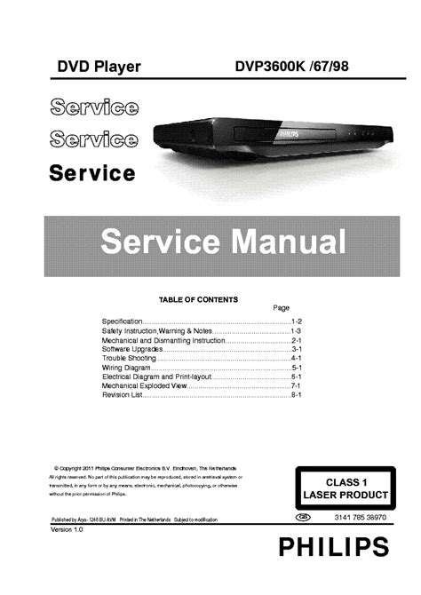 PHILIPS VR-330-530-630-730-732-830-VRQ45 Service Manual
