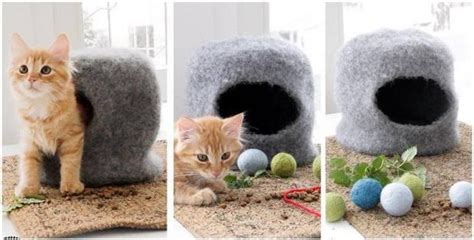 the knit house cat cave felted knit house free knitting pattern