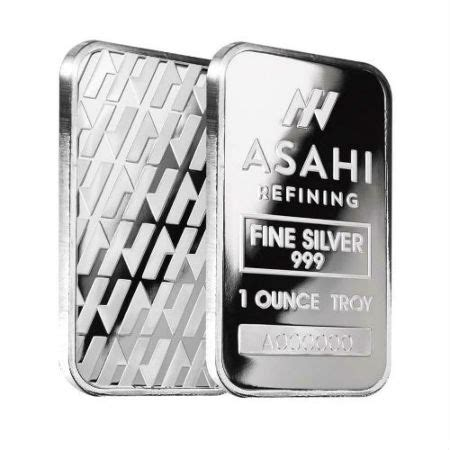 1 ounce silver bars canada 1 ounce asahi silver bullion bar