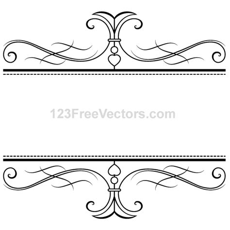 Wedding Border Vector by Free Calligraphy Ornamental Frame Psd Files Vectors