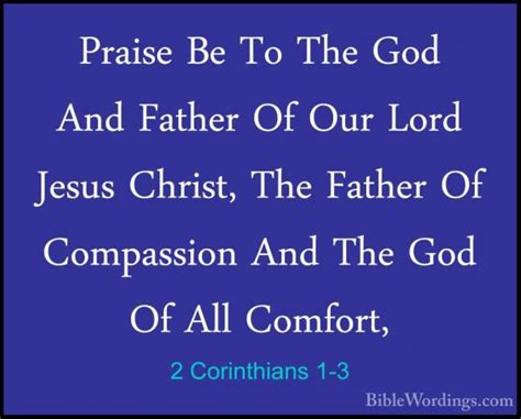 corinthians comfort 2 corinthians 1 holy bible english biblewordings com