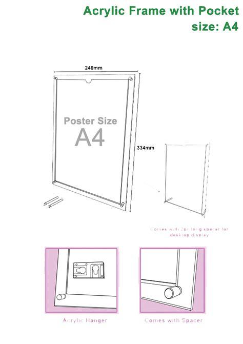 Acrylic Frame A4 a4 acrylic frame with spacer