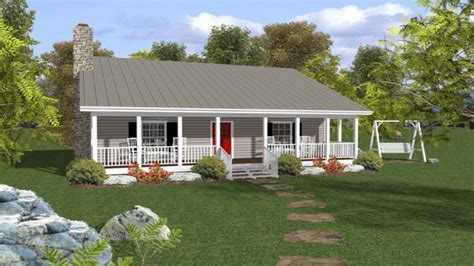 small ranch house plans with porch open ranch style house
