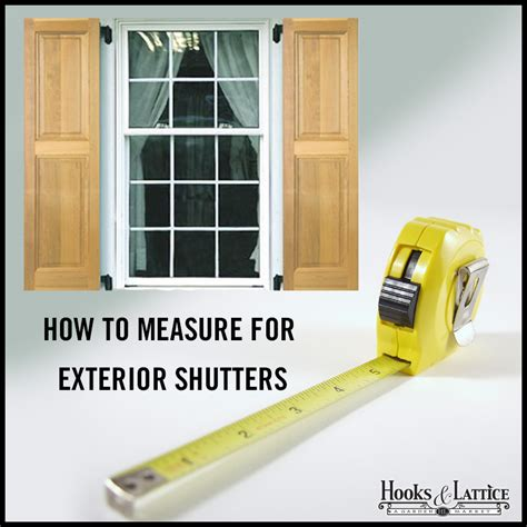 Curb Appeal Products - how to measure for exterior shutters hooks amp lattice