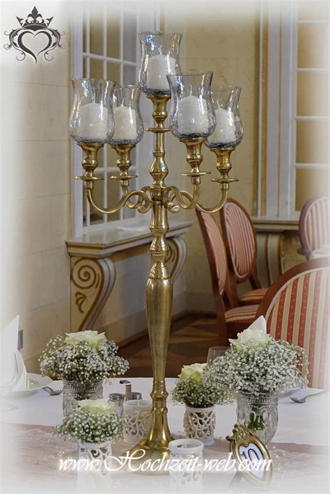goldene kerzenhalter tischdeko mit kerzenleuchter kerzenst 228 nder