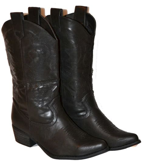 womens boots cowboy black light brown brown