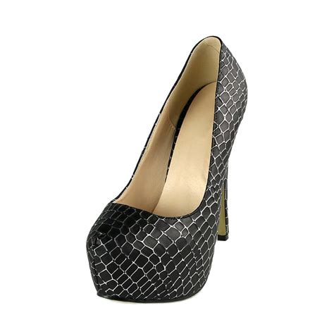 black pattern heels unique black snake skin pattern pumps high heels sws20294