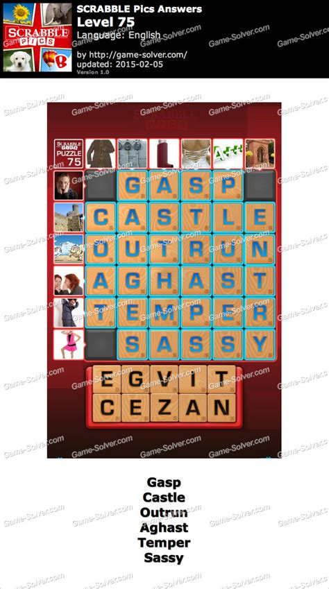 scrabble answers scrabble pics level 75 solver
