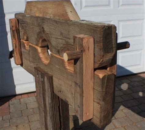 wooden spanking bench pillory because you never know by uglyfredy