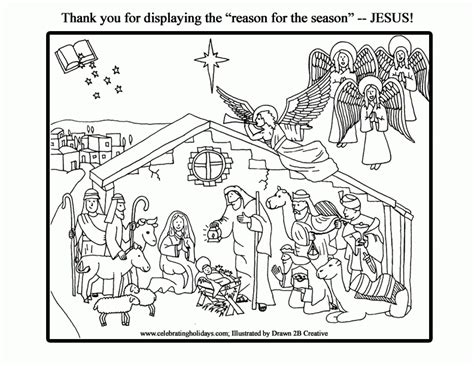 jesus manger or crib coloring pages holidays and observances nativity christmas holiday coloring pages coloring home