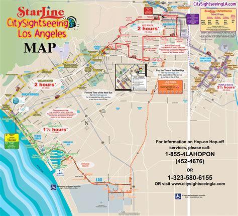map los angeles maps update 21051488 los angeles tourist map los