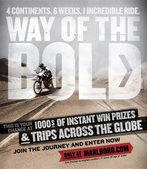 Marlboro Giveaway - marlboro way of the bold instant win game and sweepstakes mumblebee inc