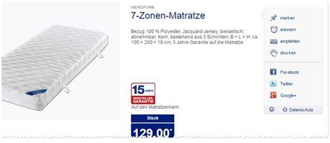 Novitesse Matratze Als Aldi Nord Angebot Ab 20 2 2017