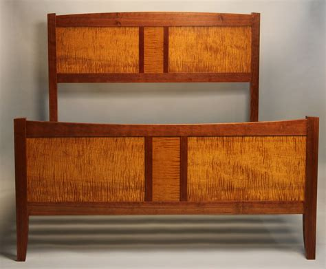 Handmade Cherry Furniture - doucette and wolfe furniture makers frame and panel bed
