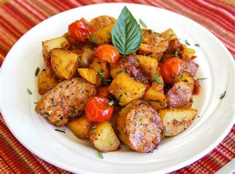 hearty italian sausage potato skillet recipe just a pinch recipes