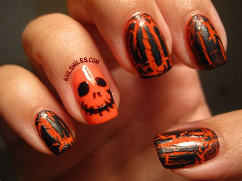 easy nail art orange and black 25 halloween nail manicures