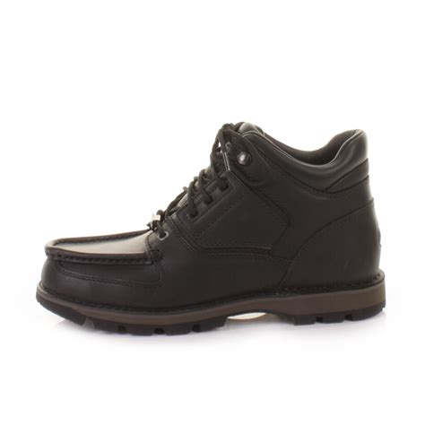 mens boots rockport mens rockport umbwe black leather waterproof trail ankle