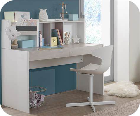 bureau en bois pour enfant bureau enfant il 233 o blanc et bois avec rangements