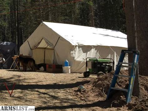 10x12x5ft magnum wall tent and angle kits armslist for sale trade 14 x 16 magnum canvas tent